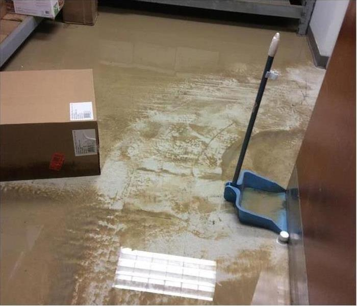 water on the floor.